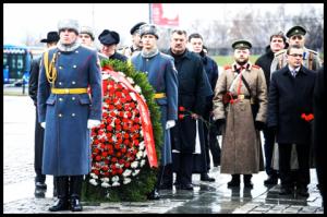 Открытие памятника героям Первой Мировой на Поклонной горе. Москва