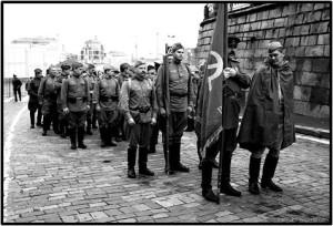 Шествие на Красной площади Москвы, посвященное Дню Города