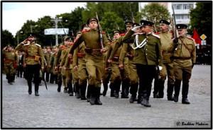 Реконструкция парада  1914г г.Гусев Калининградская область